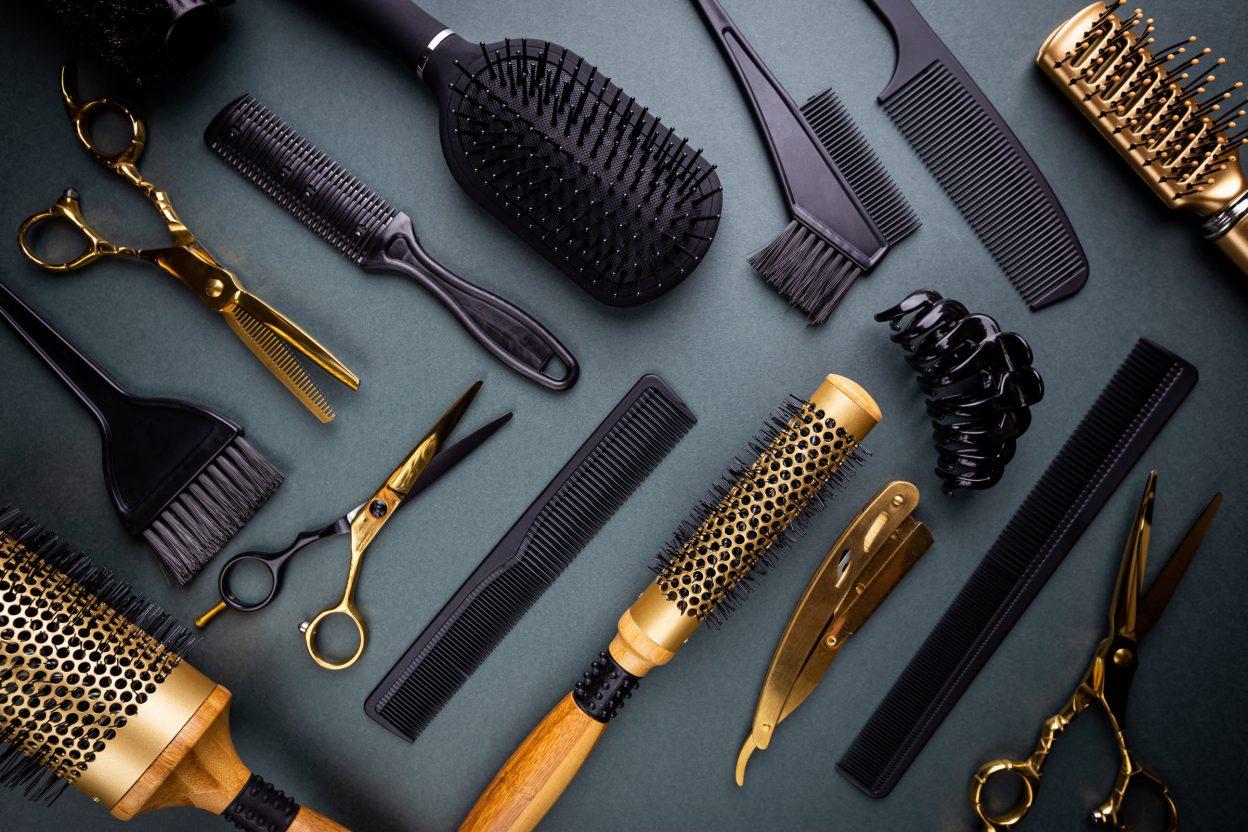 Various hair dresser tools