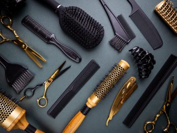 Various hair dresser tools